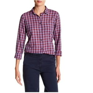 J. Crew BOY Plaid Button Down Long Sleeve Top 8